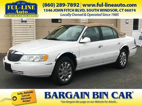 2002 Lincoln Continental for sale in South Windsor, CT