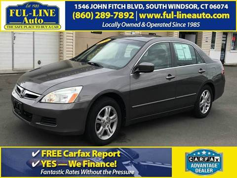 2006 Honda Accord for sale in South Windsor, CT