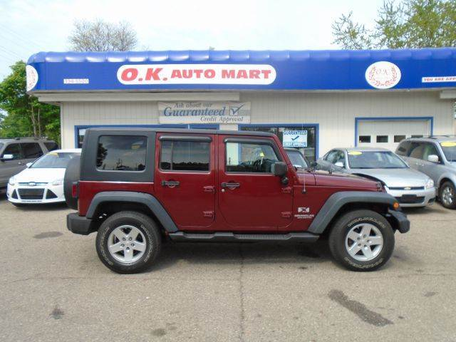 2008 JEEP WRANGLER UNLIMITED X 4X4 SUV red unlimited x power window power lock hard soft to