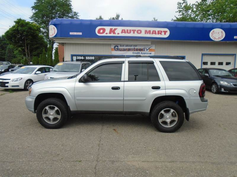 2007 CHEVROLET TRAILBLAZER LS 4DR SUV 4WD gray there have been no accidents reported to autocheck