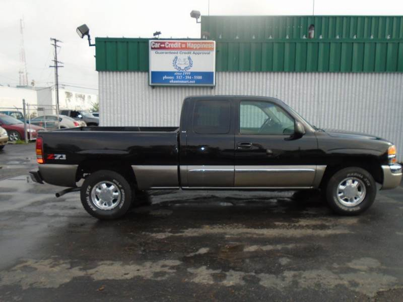 2003 GMC SIERRA 1500 SLE 4DR EXTENDED CAB 4WD SB black z71autocheck score 94  4wd  must s