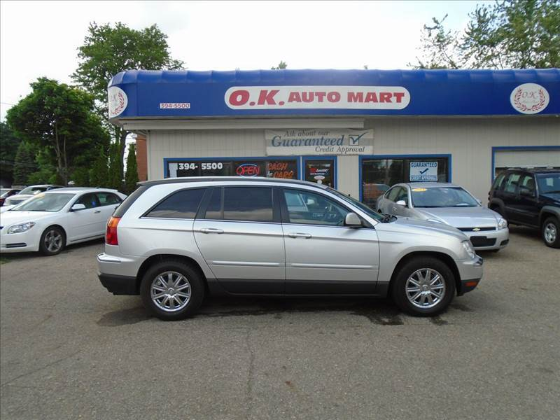 2007 CHRYSLER PACIFICA TOURING AWD 4DR WAGON silver low mile  leather  dvd pkg  awd mu