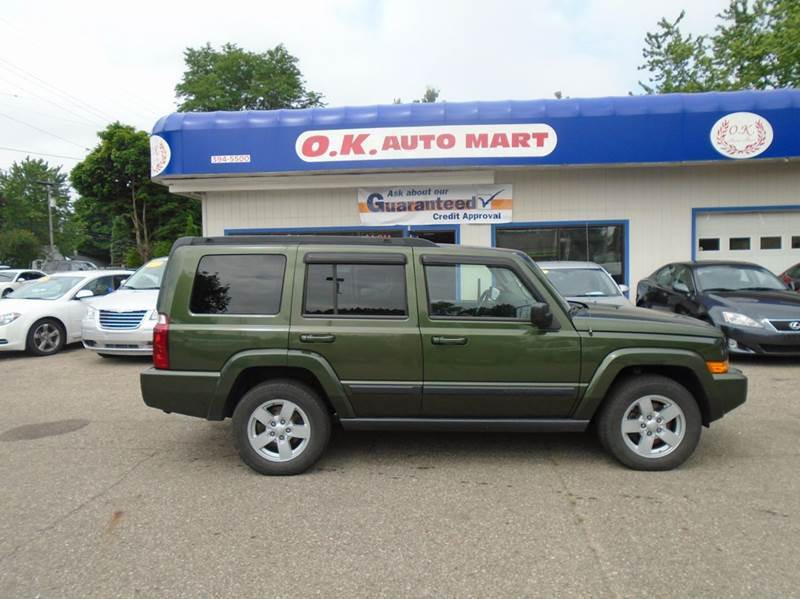 2007 JEEP COMMANDER SPORT 4DR SUV 4WD green there have been no accidents reported to autocheck fo