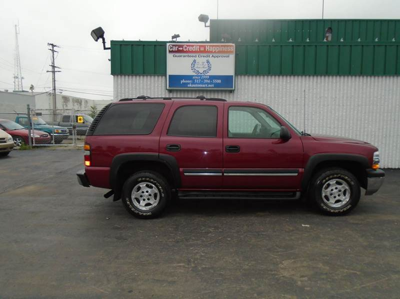 2004 CHEVROLET TAHOE LS 4WD 4DR SUV red 7pass  sun roof  bose stereo4wd must see  100