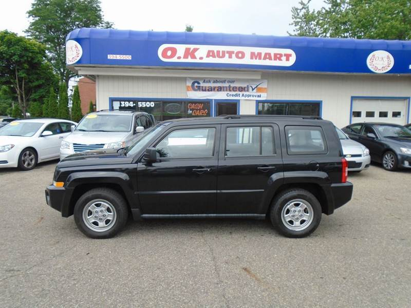 2010 JEEP PATRIOT SPORT 4X4 4DR SUV black there have been no accidents reported to autocheck for