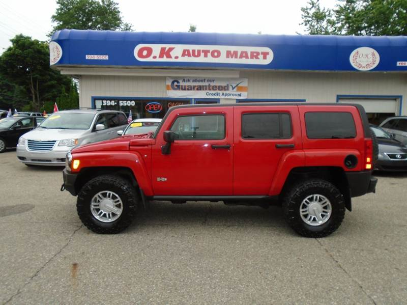 2006 HUMMER H3 BASE 4DR SUV 4WD red autocheck score  96   sun roof  awd must see there hav