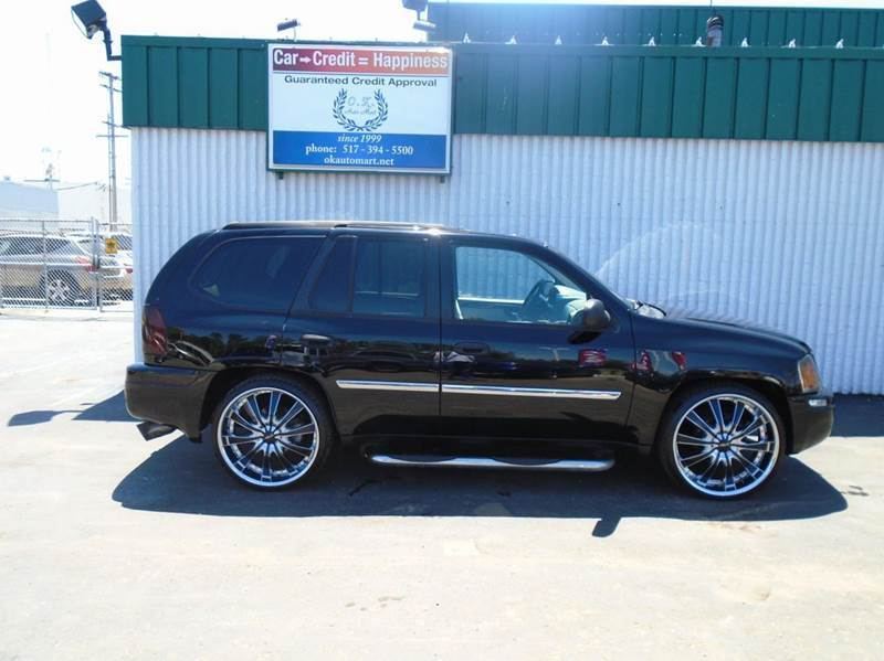 2008 GMC ENVOY SLE 4X4 4DR SUV black 20 wheels  sun roof  4wd  must see 100 point pre-sa