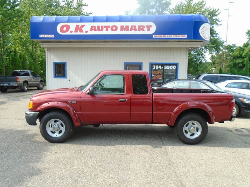 2004 FORD RANGER XL 4DR 4WD EXTENDED CAB SB burg one owner  low mile  cruise control  powe
