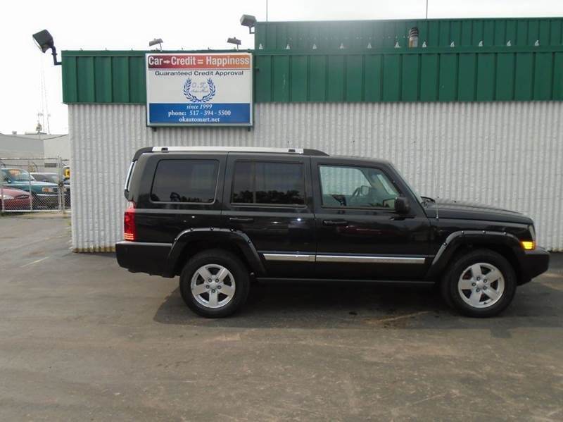 2008 JEEP COMMANDER LIMITED 4X4 4DR SUV black limited  leather loaded  sun roof  dvd pkg