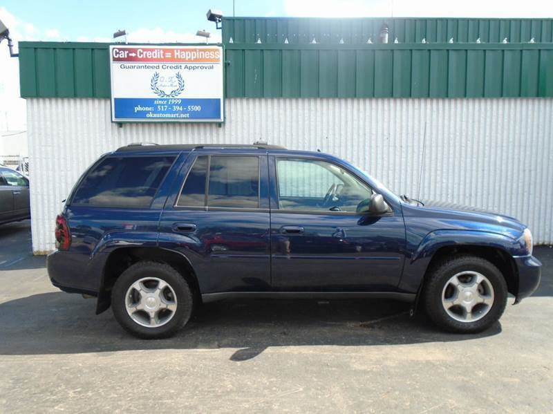 2008 CHEVROLET TRAILBLAZER LT1 4X4 4DR SUV blue one owner  dual power seat  rear ac  4w