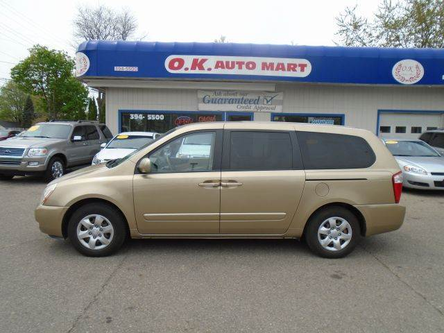 2006 KIA SEDONA EX 4DR MINIVAN gold there have been no accidents reported to vehicle history repo