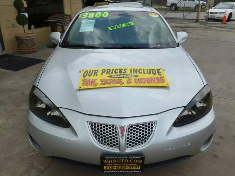 2004 Pontiac Grand Prix GT2 4dr Sedan - Houston TX