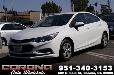 2016 Chevrolet Cruze for sale in Corona, CA