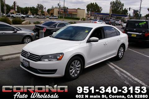 2013 Volkswagen Passat for sale in Corona, CA