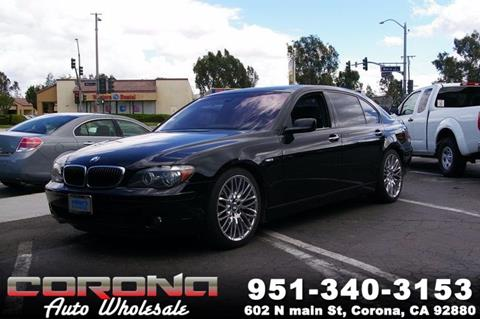 2007 BMW 7 Series for sale in Corona, CA