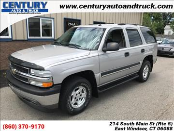 2005 Chevrolet Tahoe for sale in East Windsor, CT