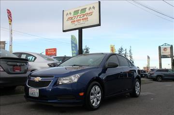2012 Chevrolet Cruze for sale in Edmonds, WA