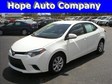 2015 Toyota Corolla for sale in Hope, AR