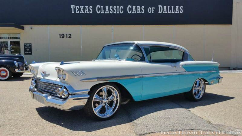 1958 chevrolet bel air 2 dr in dallas tx texas classic cars of dallas. Black Bedroom Furniture Sets. Home Design Ideas