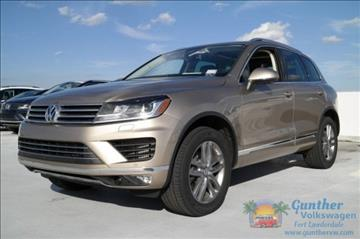 2016 Volkswagen Touareg for sale in Fort Lauderdale, FL