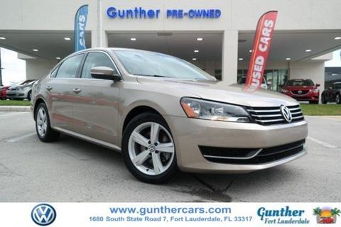 2015 Volkswagen Passat for sale in Fort Lauderdale, FL