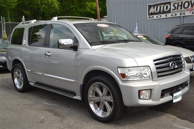 2004 INFINITI QX56 BASE RWD 4DR SUV silver indulgence heated seats premium sound package key