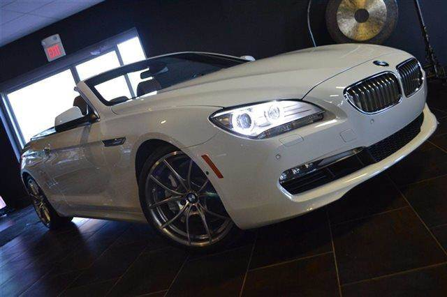 2012 BMW 6 SERIES 650I 2DR CONVERTIBLE white warranty included a factory warranty is included wi