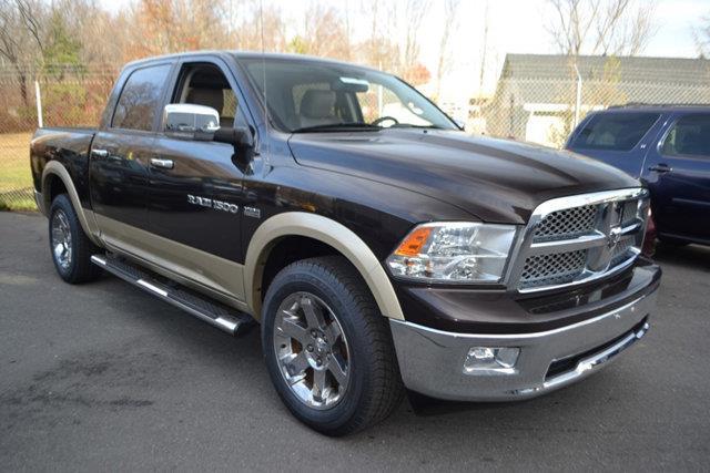2011 RAM RAM PICKUP 1500 LARAMIE CREW CAB 4WD brown this 2011 ram 1500 laramie crew cab 4wd featu
