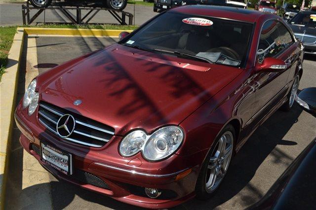 2008 MERCEDES-BENZ CLK-CLASS CLK550 2DR COUPE red low miles carfax one owner - carfax guarante