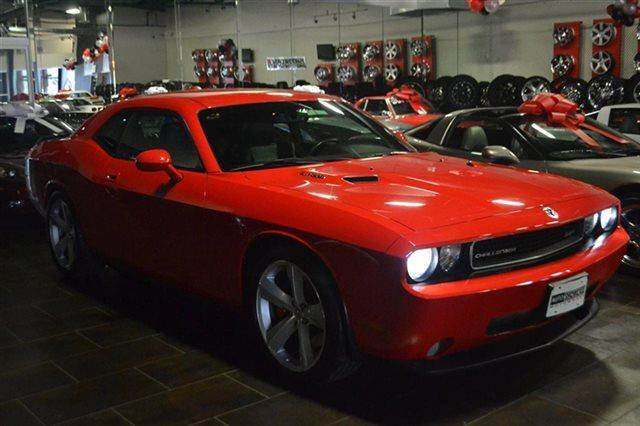 2009 DODGE CHALLENGER SRT8 2DR COUPE red warranty included a factory warranty is included with t