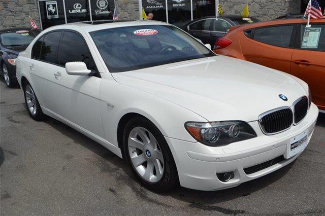 2008 BMW 7 SERIES 750I 4DR SEDAN alpine white bluetooth park distance control navigation h
