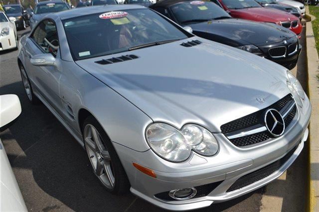 2007 MERCEDES-BENZ SL-CLASS SL55 AMG 2DR CONVERTIBLE iridium silver metallic low miles this 20