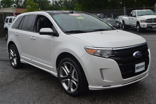 2013 FORD EDGE SPORT 4DR SUV white suede bluetooth backup camera park distance control hea