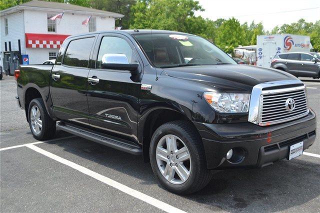 2010 TOYOTA TUNDRA LIMITED 4X4 4DR CREWMAX CAB PICK black this 2010 toyota tundra 4wd truck ltd