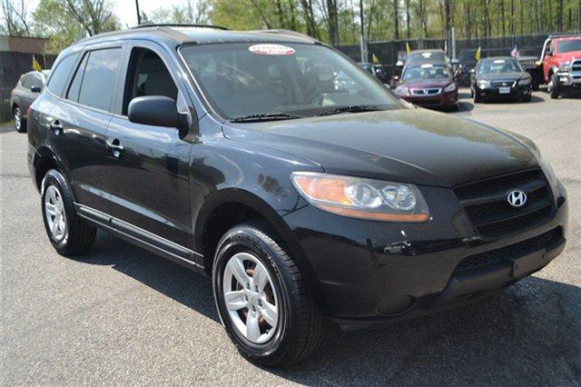 2009 HYUNDAI SANTA FE GLS AWD 4DR SUV 4A ebony black keyless start carfax 1-owner vehicle th