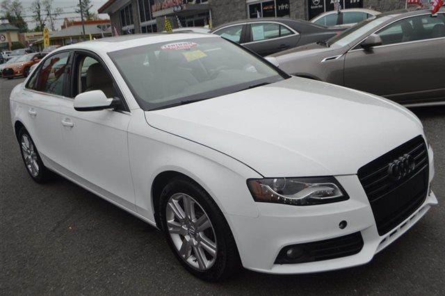 2012 AUDI A4 20T QUATTRO PREMIUM AWD 4DR SED ibis white priced below market carfax one owner