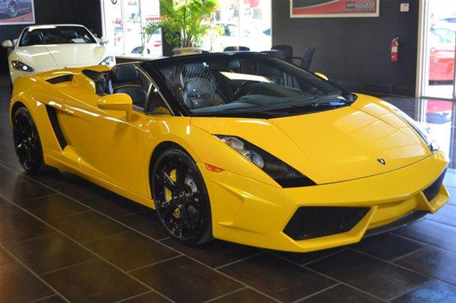 2006 LAMBORGHINI GALLARDO SPYDER AWD 2DR CONVERTIBLE tri-yellow warranty a limited warranty is in