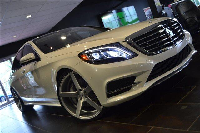 2015 MERCEDES-BENZ S-CLASS S550 4MATIC AWD 4DR SEDAN designo diamond white warranty included a l