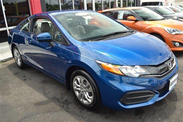 2014 HONDA CIVIC LX 2DR COUPE CVT dyno blue pearl value priced below market bluetooth backup