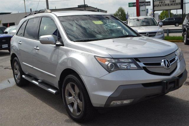 2007 ACURA MDX SH-AWD WSPORT PACKAGE WRES 4DR billet silver metallic navigation back-up came