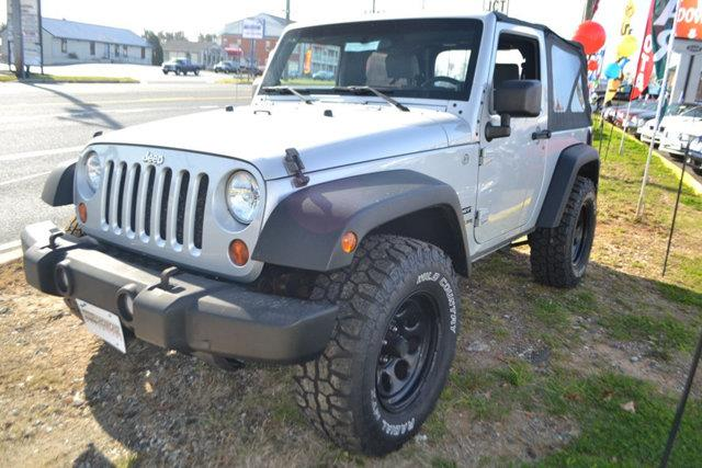 2010 JEEP WRANGLER SPORT 4X4 2DR SUV silver this 2010 jeep wrangler 2dr 4wd 2dr mountain features
