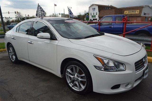2010 NISSAN MAXIMA - SEDAN winter frost pearl this 2010 nissan maxima 35 sv with premium pkg wil