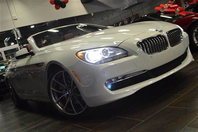 2012 BMW 6 SERIES 650I 2DR CONVERTIBLE alpine white new arrival premium sound package keyles