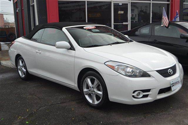 2008 TOYOTA CAMRY SOLARA 2DR CONVERTIBLE V6 AUTOMATIC SE white carfax 1-owner low miles this