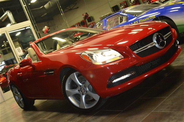 2012 MERCEDES-BENZ SLK-CLASS SLK350 2DR CONVERTIBLE mars red priced below market this 2012 mer