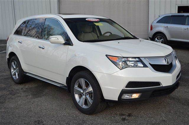 2012 ACURA MDX SH-AWD WTECH 4DR SUV WTECHNOLO white carfax 1-owner this 2012 acura mdx tech p