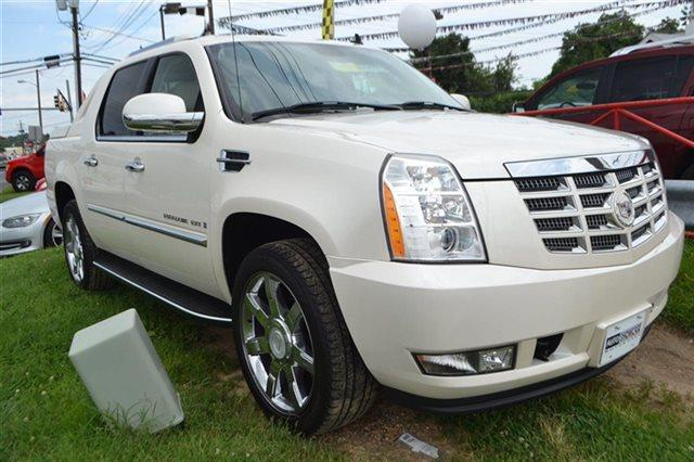 2008 CADILLAC ESCALADE EXT BASE AWD 4DR SB CREW CAB white diamond tricoat priced below market t