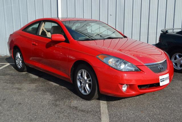 2004 TOYOTA CAMRY SOLARA 2DR COUPE SLE AUTOMATIC red this 2004 toyota camry solara 2dr 2dr coupe