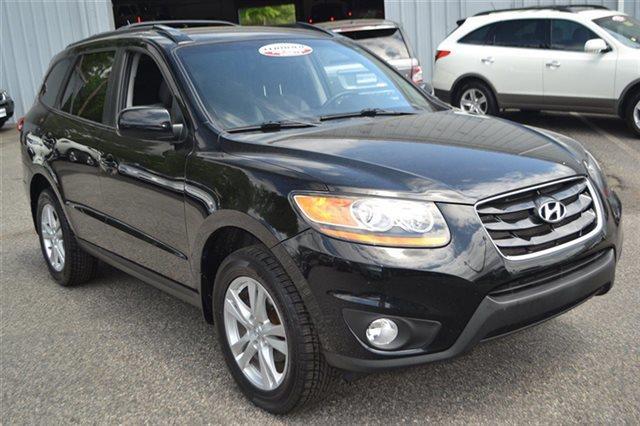 2010 HYUNDAI SANTA FE SE AWD 4DR SUV phantom black metallic 4wd priced below market carfax