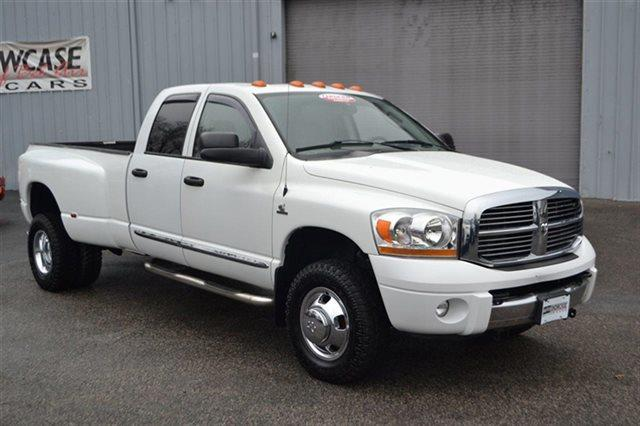 2006 DODGE RAM PICKUP 3500 LARAMIE 4X4 TRUCK white heated seats sunroofmoonroof keyless sta